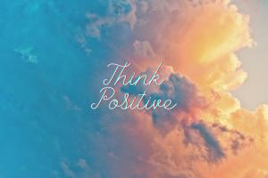 Beautiful Cloud Positive Desktop Wallpaper